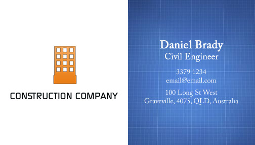 Free Construction Business Card Template - Construction business card template