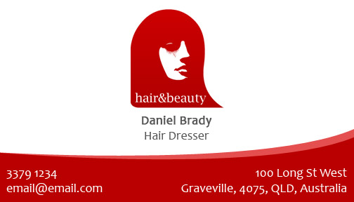 Free Hair Salon Business Card Template