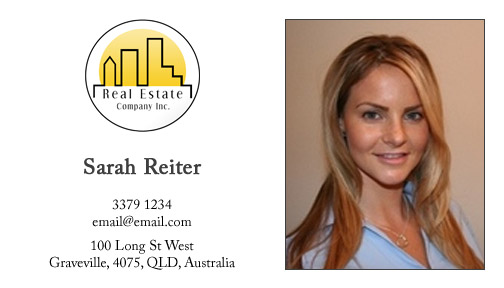 You are viewing our Real Estate Business Card Template.