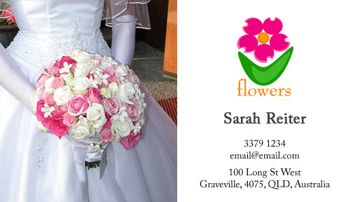 Wedding Florist Business Card Template